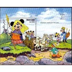 سونیرشیت نمایشگاه جهانی تمبر لندن - والت دیسنی - سیرالئون 1990  قیمت 6.7 دلار