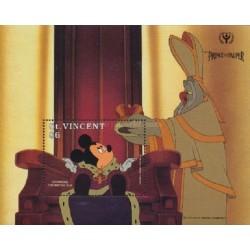 سونیرشیت کارتون شاهزاده و گدا -  والت دیسنی - سال بین المللی سواد آموزی -  سنت وینسنت 1991 قیمت 5.6 دلار