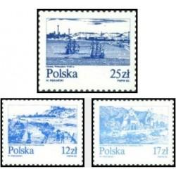 3 عدد تمبر رودخانه ویستولا - لهستان 1982