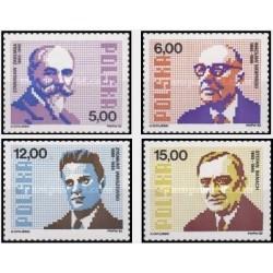 4 عدد تمبر ریاضی دانان لهستانی - لهستان 1982