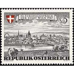1 عدد تمبر منظره شهر وین - اتریش 1967
