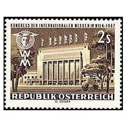 1 عدد تمبر کنگره بین المللی نمایشگاه بازرگانی - اتریش 1967
