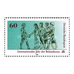 1 عدد تمبر سال بین المللی معلولین - جمهوری فدرال آلمان 1981