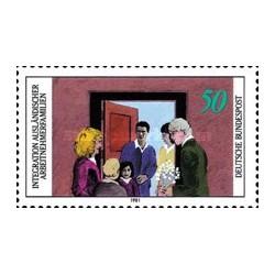 1 عدد تمبر خانواده های خارجی - آلمان 1981