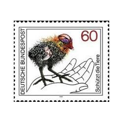 1 عدد تمبر حفاظت از حیوانات - آلمان 1981