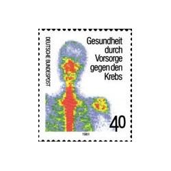 1 عدد تمبر  ضد سرطان - جمهوری فدرال آلمان 1981