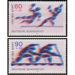 2 عدد تمبر ورزشی - جمهوری فدرال آلمان 1979