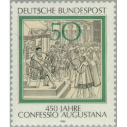 1 عدد تمبر 450مین سال اعتراف نامه آگوستینو - جمهوری فدرال آلمان 1980