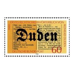 1 عدد تمبر صدمین سالگرد اولین دیکشنری کونراد دودن - جمهوری فدرال آلمان 1980