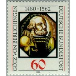 1 عدد تمبر پانصدمین سالگرد گوته - جمهوری فدرال آلمان 1980