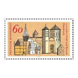 1 عدد تمبر 1200 سالگی شهر اوسنابروک - جمهوری فدرال آلمان 1980