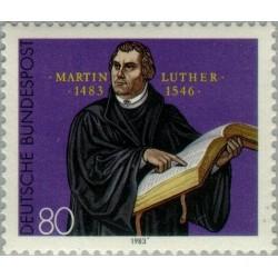 1 عدد تمبر 500مین سال تولد مارتین لوتر - پروفسور نظربه پرداز - جمهوری فدرال آلمان 1983 قیمت 2.8 دلار