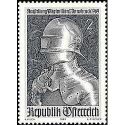 1 عدد تمبر نمایشگاه ماکسیمیلیان 1 - اینزبروک - اتریش 1969