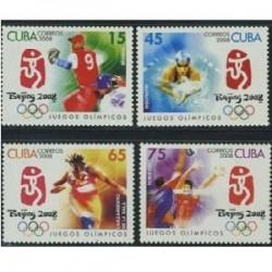 4 عدد تمبر المپیک بیجینگ - کوبا 2012