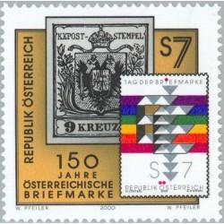1 عدد تمبر 150مین سال انتشار تمبرهای پستی اتریش - اتریش 2000