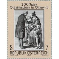 1 عدد تمبر 200مین سال واکسیناسیون در اتریش - اتریش 2000
