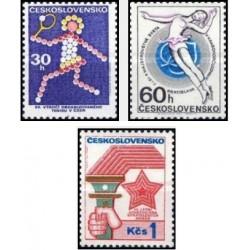 3 عدد تمبر رخدادهای ورزشی - چک اسلواکی 1973