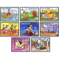 8 رقم از 10 عدد تمبر نمایشگاه بین المللی تمبر واشنگتن - گرندین گرانادا 1989