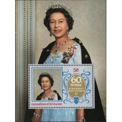 سونیرشیت 60مین سالگرد تولد ملکه الیزابت دوم  -گرندین سنت وینسنت 1986
