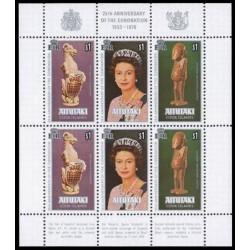 مینی شیت 25مین سالگرد تاجگذاری ملکه الیزابت دوم -  آیتوتکی 1978
