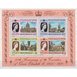 سونیر شیت 25مین سالگرد تاجگذاری ملکه الیزابت دوم  - مونتسرت 1978