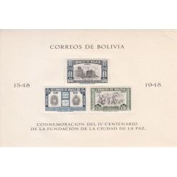 سونیرشیت 400مین سالگرد تاسیس لاپاز - 5 - پست هوائی - بولیوی 1951