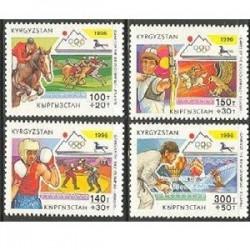4 عدد تمبر المپیک آتلانتا - قرقیزستان 1996