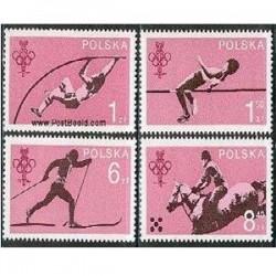 4 عدد تمبر کمیته المپیک - لهستان 1979