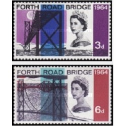 2 عدد تمبر افتتاح پل جاده چهارم ، اسکاتلند - انگلیس 1964