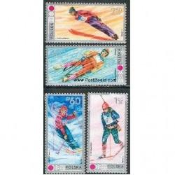 4 عدد تمبر المپیک زمستانی ساپورو - لهستان 1972