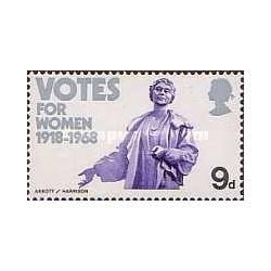 1 عدد تمبر حق رای برای زنها - انگلستان 1968