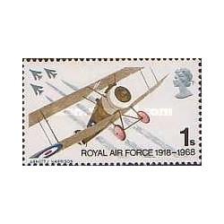 1 عدد تمبر نیروی هوائی سلطنتی - انگلستان 1968