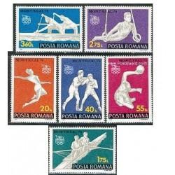 6 عدد تمبر المپیک مونترال کانادا - رومانی 1976