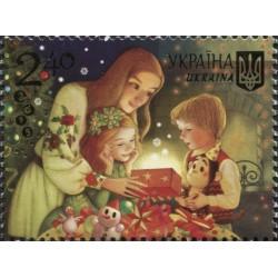 1 عدد تمبر کریستمس و سال نو  - اوکراین 2015