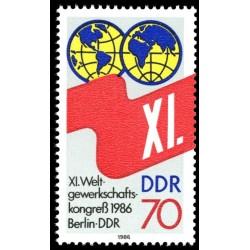1 عدد تمبر کنگره اتحادیه بازرگانی - برلین - جمهوری دموکراتیک آلمان 1986