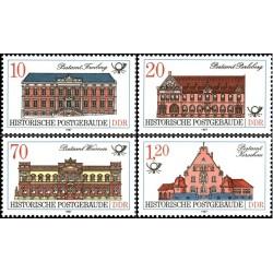 4 عدد تمبر ادارات پست قدیمی - جمهوری دموکراتیک آلمان 1987