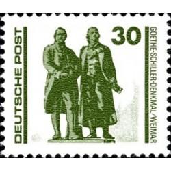 1 عدد تمبر سری پستی - ساختمانها و بناهای یادبود - 30 -  جمهوری دموکراتیک آلمان 1990