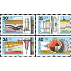 4 عدد تمبر تحقیقات زمین شناسی - جمهوری دموکراتیک آلمان 1980