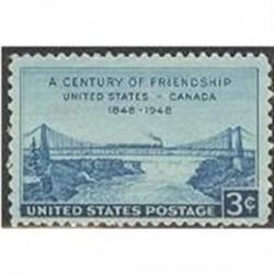 1 عدد تمبر صدمین سال روابط دوستانه با کانادا - آمریکا 1953