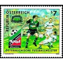 1 عدد تمبر قهرمان فوتبال اتریش - تیرول - اتریش 2000