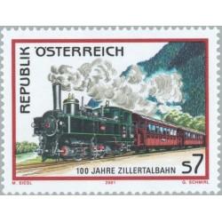 1 عدد تمبر صدمین سال راه آهن زیرترتال - اتریش 2001