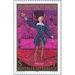 1 عدد تمبر 200مین سالگرد تولد لئوپولد لودویک دابلر - شعبده باز - اتریش 2001