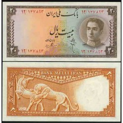 099 - جفت اسکناس 20 ریال ابوالحسن ابتهاج - علی بامداد 1327 - 1330