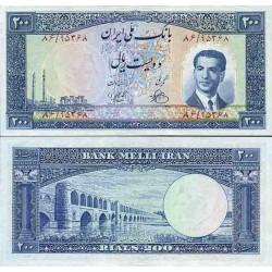 109 - جفت اسکناس 200 ریال ابراهیم زند - احمد رضوی 1330