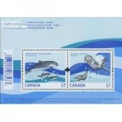 سونیرشیت پستانداران دریائی تمبر مشترک کانادا و سوئد 2010