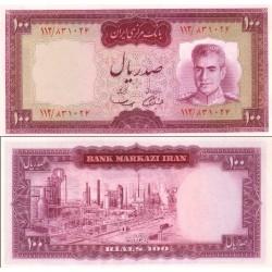 139 - جفت اسکناس 100 ریال جمشید آموزگار - مهدی سمیعی
