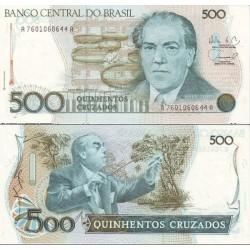 اسکناس 500 کروز - برزیل 1988