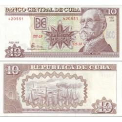 اسکناس 10 پزو - کوبا 2008