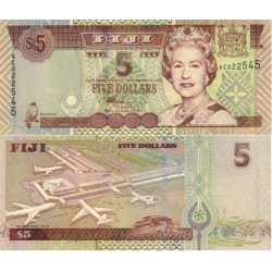 اسکناس 5 دلار - فیجی 2002 سریال دو جرفی