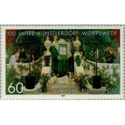 1 عدد تمبر نقاشی - شهرداری Worpswede  -  آلمان 1989